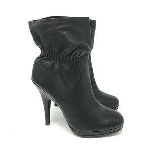 Michael Kors Webster Ankle Boots Black Leather 10